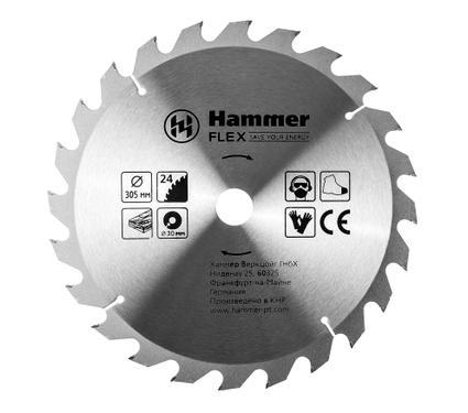 Круг пильный твердосплавный HAMMER 205-131 CSB WD