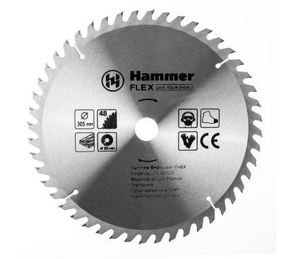 Круг пильный твердосплавный HAMMER 205-132 CSB WD