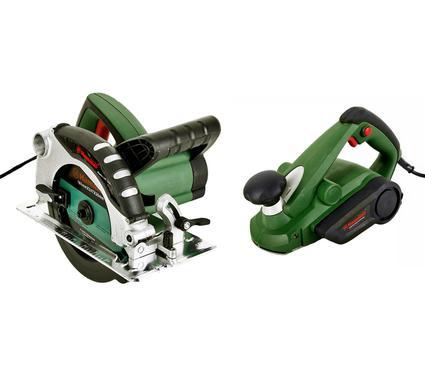 Набор: Пила циркулярная HAMMER CRP1300A + Рубанок Hammer Flex RNK600