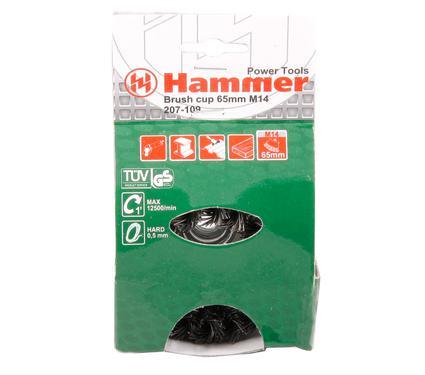 Кордщетка HAMMER BR CP-hard HD  65*0,5*M14