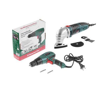 Набор: Инструмент многофункциональный HAMMER LZK500S PREMIUM + Дрель-шуруповерт Hammer Flex DRL400A