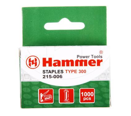 Скобы для степлера HAMMER Гвозди 14мм, 1.2 мм, Т-образ. (тип300)