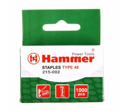 Скобы для степлера HAMMER Гвозди 16мм, 1.25мм Т-образные (тип48)