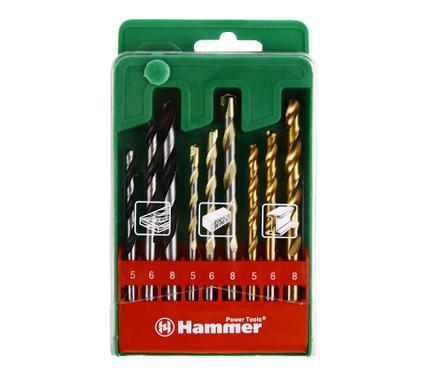 Набор сверл HAMMER DR set No9 (9pcs) 5-8mm