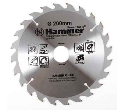 Круг пильный твердосплавный HAMMER CSB WD 200мм*24*32/30мм