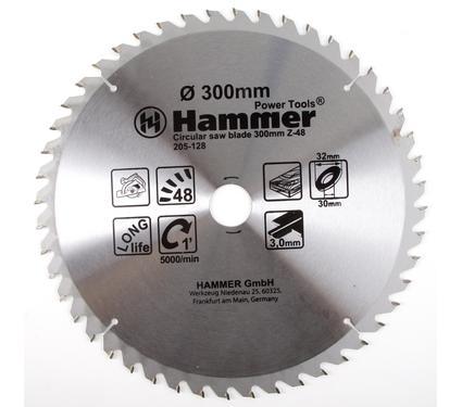 Круг пильный твердосплавный HAMMER CSB WD 300мм*48*32/30мм