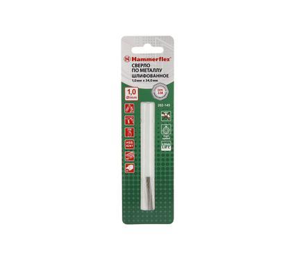 Сверло по металлу HAMMER 202-145 DR MT 1,0мм*34 (5pcs)