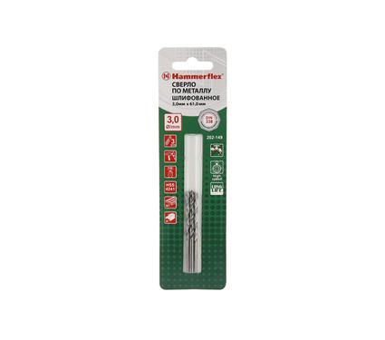 Сверло по металлу HAMMER 202-149 DR MT 3,0мм*61мм (3pcs)