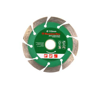 Круг алмазный HAMMER 206-126 DB TB SPIRAL 115*22мм